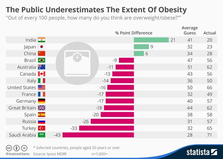 הציבור אינו מודע להיקף ההשמנה