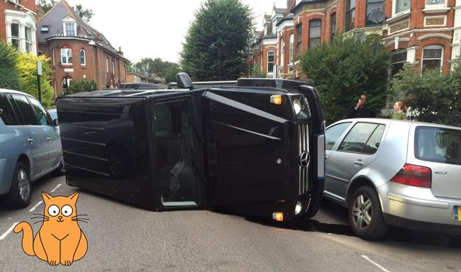 שופט X Factor לשעבר התהפך עם מכוניתו כדי לא לפגוע בחתול