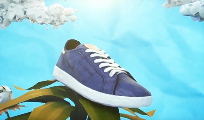 ריבוק מוציאה נעליים מכותנה ותירס