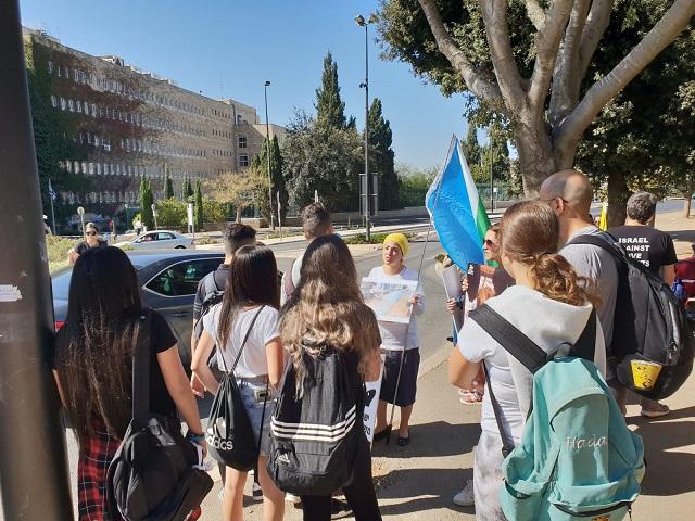 מול משכן הכנסת: הפגנת תמיכה בהצעת החוק להפסקת המשלוחים החיים
