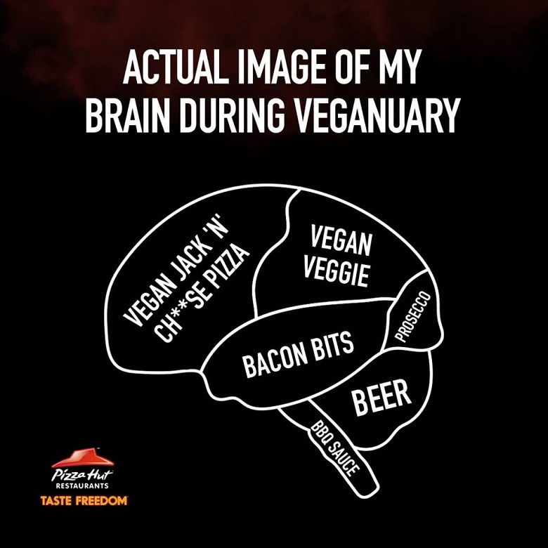 ככה נראה המוח שלי ב-Veganuary