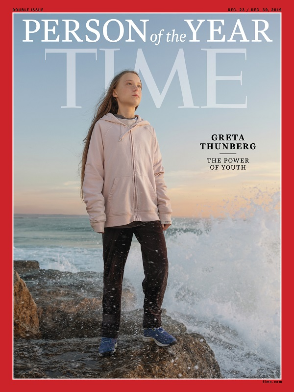 גרטה תונברג על שער המגזין Time