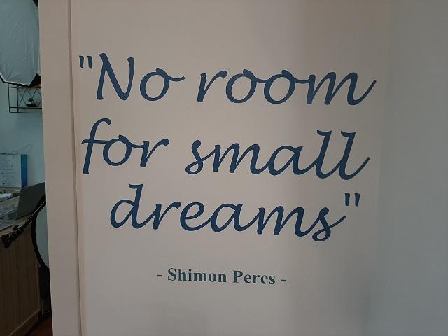 No Room for Small Dreams - Shimon Peres