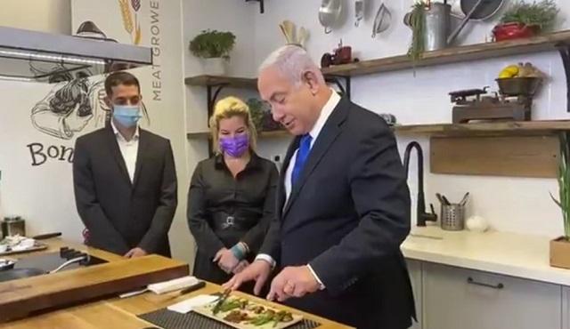 טעים עם חמלה: ראש הממשלה נתניהו אכל בשר מתורבת